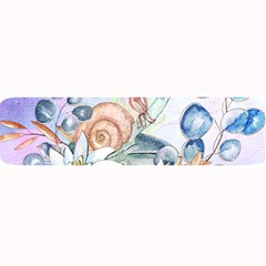 Snail And Waterlily, Watercolor Large Bar Mats by FantasyWorld7