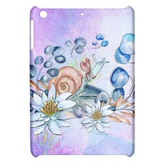 Snail And Waterlily, Watercolor Apple Ipad Mini Hardshell Case by FantasyWorld7