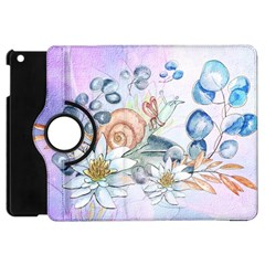 Snail And Waterlily, Watercolor Apple Ipad Mini Flip 360 Case by FantasyWorld7
