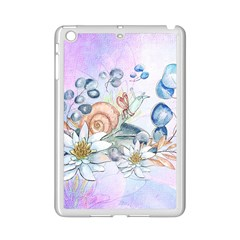 Snail And Waterlily, Watercolor Ipad Mini 2 Enamel Coated Cases by FantasyWorld7