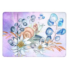 Snail And Waterlily, Watercolor Samsung Galaxy Tab 10 1  P7500 Flip Case by FantasyWorld7