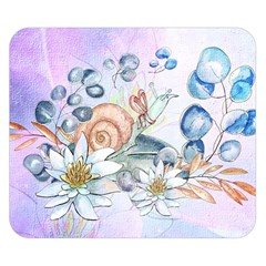 Snail And Waterlily, Watercolor Double Sided Flano Blanket (small)  by FantasyWorld7