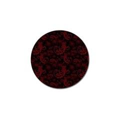 Dark Red Flourish Golf Ball Marker (4 Pack) by gatterwe