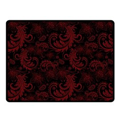 Dark Red Flourish Fleece Blanket (small) by gatterwe