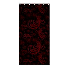 Dark Red Flourish Shower Curtain 36  X 72  (stall)  by gatterwe