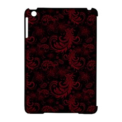 Dark Red Flourish Apple Ipad Mini Hardshell Case (compatible With Smart Cover) by gatterwe