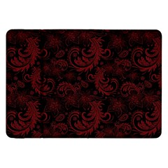 Dark Red Flourish Samsung Galaxy Tab 8 9  P7300 Flip Case by gatterwe