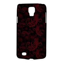 Dark Red Flourish Galaxy S4 Active by gatterwe