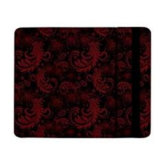 Dark Red Flourish Samsung Galaxy Tab Pro 8 4  Flip Case by gatterwe