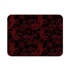 Dark Red Flourish Double Sided Flano Blanket (mini)  by gatterwe