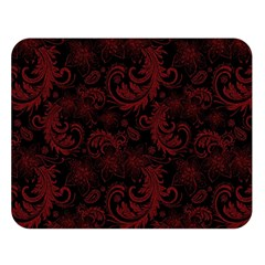 Dark Red Flourish Double Sided Flano Blanket (large)  by gatterwe