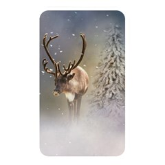 Santa Claus Reindeer In The Snow Memory Card Reader (rectangular) by gatterwe