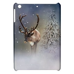 Santa Claus Reindeer In The Snow Apple Ipad Mini Hardshell Case by gatterwe