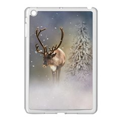 Santa Claus Reindeer In The Snow Apple Ipad Mini Case (white) by gatterwe