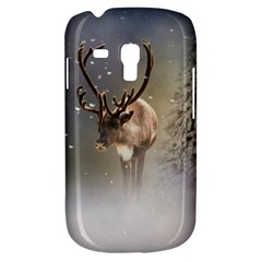 Santa Claus Reindeer In The Snow Samsung Galaxy S3 Mini I8190 Hardshell Case by gatterwe