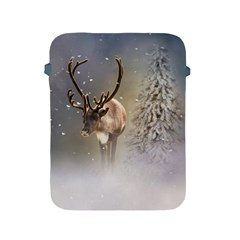 Santa Claus Reindeer In The Snow Apple Ipad 2/3/4 Protective Soft Case by gatterwe