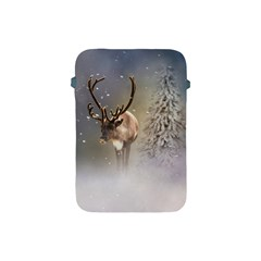 Santa Claus Reindeer In The Snow Apple Ipad Mini Protective Soft Case by gatterwe