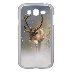 Santa Claus Reindeer In The Snow Samsung Galaxy Grand Duos I9082 Case (white) by gatterwe