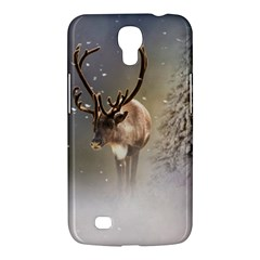 Santa Claus Reindeer In The Snow Samsung Galaxy Mega 6 3  I9200 Hardshell Case