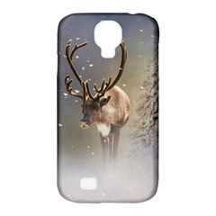 Santa Claus Reindeer In The Snow Samsung Galaxy S4 Classic Hardshell Case (pc+silicone) by gatterwe