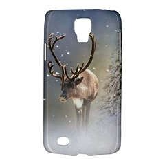 Santa Claus Reindeer In The Snow Samsung Galaxy S4 Active (i9295) Hardshell Case by gatterwe