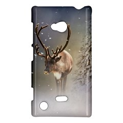 Santa Claus Reindeer In The Snow Nokia Lumia 720 Hardshell Case by gatterwe