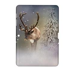 Santa Claus Reindeer In The Snow Samsung Galaxy Tab 2 (10 1 ) P5100 Hardshell Case  by gatterwe