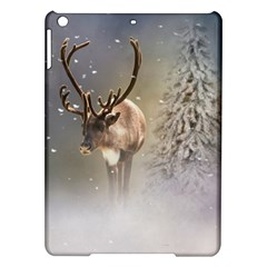 Santa Claus Reindeer In The Snow Apple Ipad Air Hardshell Case by gatterwe