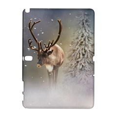 Santa Claus Reindeer In The Snow Samsung Galaxy Note 10 1 (p600) Hardshell Case by gatterwe