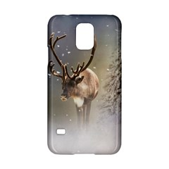 Santa Claus Reindeer In The Snow Samsung Galaxy S5 Hardshell Case  by gatterwe
