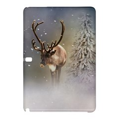 Santa Claus Reindeer In The Snow Samsung Galaxy Tab Pro 10 1 Hardshell Case by gatterwe