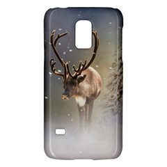 Santa Claus Reindeer In The Snow Samsung Galaxy S5 Mini Hardshell Case  by gatterwe