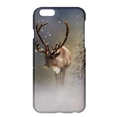 Santa Claus Reindeer In The Snow Apple Iphone 6 Plus/6s Plus Hardshell Case by gatterwe