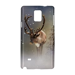 Santa Claus Reindeer In The Snow Samsung Galaxy Note 4 Hardshell Case by gatterwe
