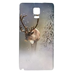 Santa Claus Reindeer In The Snow Samsung Note 4 Hardshell Back Case by gatterwe