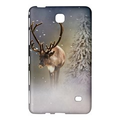 Santa Claus Reindeer In The Snow Samsung Galaxy Tab 4 (7 ) Hardshell Case  by gatterwe