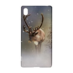 Santa Claus Reindeer In The Snow Sony Xperia Z3+ Hardshell Case by gatterwe