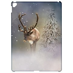 Santa Claus Reindeer In The Snow Apple Ipad Pro 12 9   Hardshell Case by gatterwe