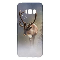 Santa Claus Reindeer In The Snow Samsung Galaxy S8 Plus Hardshell Case  by gatterwe