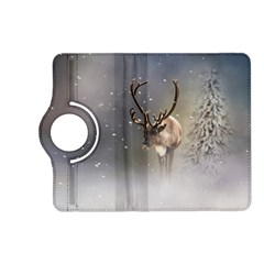 Santa Claus Reindeer In The Snow Kindle Fire Hd (2013) Flip 360 Case by gatterwe