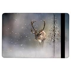 Santa Claus Reindeer In The Snow Apple Ipad Air Flip Case by gatterwe