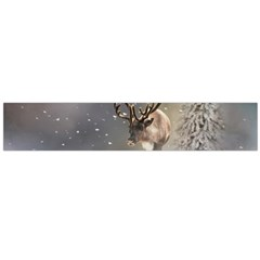 Santa Claus Reindeer In The Snow Flano Scarf (large) by gatterwe