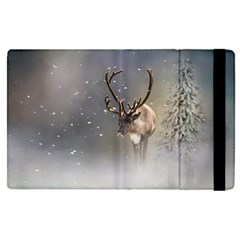 Santa Claus Reindeer In The Snow Apple Ipad Pro 12 9   Flip Case by gatterwe