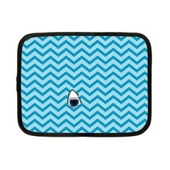 Chevron Shark Pattern Netbook Case (small)  by emilyzragz