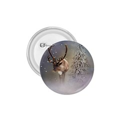 Santa Claus Reindeer In The Snow 1 75  Buttons by gatterwe