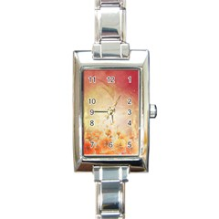 Flower Power, Cherry Blossom Rectangle Italian Charm Watch by FantasyWorld7