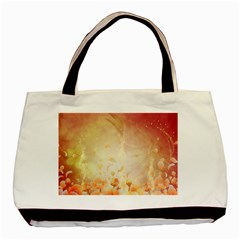 Flower Power, Cherry Blossom Basic Tote Bag by FantasyWorld7