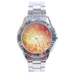 Flower Power, Cherry Blossom Stainless Steel Analogue Watch by FantasyWorld7