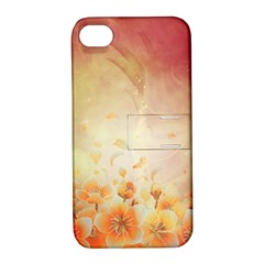 Flower Power, Cherry Blossom Apple Iphone 4/4s Hardshell Case With Stand by FantasyWorld7