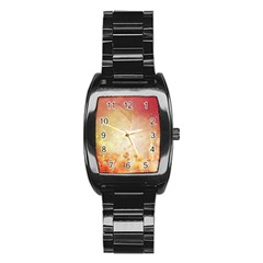 Flower Power, Cherry Blossom Stainless Steel Barrel Watch by FantasyWorld7